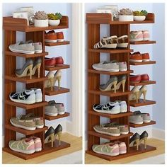 Details about Home Decor Wood MDF Solid Shelf Shoe Rack Organizer Entryway Bedroom 6 7 Tiers - All About Balcony Shoe Storage Design, Shoe Storage Shelf, Shoe Rack Organization, Rack Design, Shoe Storage Solutions, Rack Shelf, Diy Storage, Storage Ideas, Home Decor Furniture