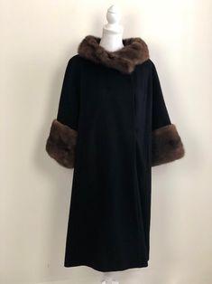 Long Fur Coat, Fur Trim Coat, Wool Overcoat, Wool Coats, Vintage Coat, Mink Fur, Vintage Outfits, Vintage Clothing, Saks Fifth Avenue