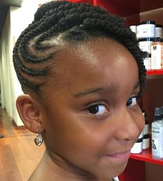 Black Asymmetrical Short Braided Hairstyle