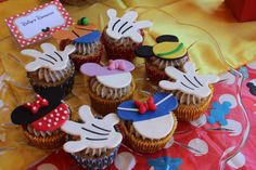 Mickey Mouse Fondant Cupcake Toppers