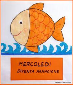 Maestra Caterina - Filastrocca della settimana del pesciolino Cambiacolore Pre School, Montessori, Kindergarten, Crafts For Kids, Dads, Activities, Education, Children, Blog