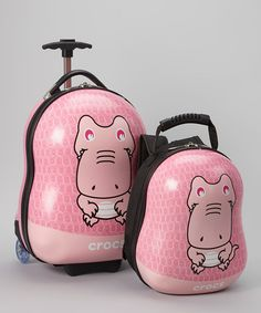 746e1104ae Take a look at this Crocs Pink Wheeled Carry-On   Backpack on zulily today