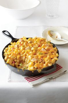 King Ranch Chicken Mac and Cheese - 101 Best Comfort Food Classics - Southernliving. Recipe: King Ranch Chicken Mac and Cheese  All the flavors of a favorite casserole come together in the comfort of mac and cheese. Serve this dish to your family, and it will become a quick favorite.