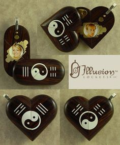 Illusionist Locket 3883 Magic Heart Yin Yang by illusionlockets