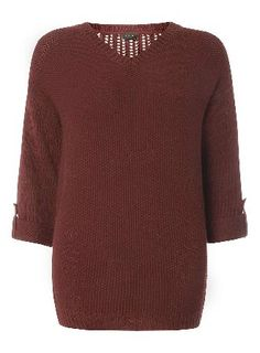 Dorothy Perkins Womens ** Vila Red Textured Roll Sleeve Jumper- Vila textured roll sleeve jumper in red. 100% Polyester. Machine washable. http://www.MightGet.com/january-2017-13/dorothy-perkins-womens-vila-red-textured-roll-sleeve-jumper-.asp