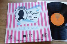 FRIEDRICH GULDA Chopin 24 Preludes LP DECCA LXT 2837 rare