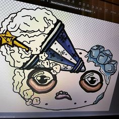 A little progress with my digital artwork of the alternative Abnormalz logo 🎨🎪🍿 . . . #abnormalz #abnormalzsosweetz #creepy #strange #toyart #darkart #macabre #handmadeinaustralia #circus #freakshow #fantasy #dessert #artistic_plus24 #instagramart #magic #beautifulbizzare #artoninstagram #polymerclay #artistic_today #toys #handmadetoys #art #scifi #artoftheday #instacool #snowcone #instadaily #instagood #instashare #etsy Snow Cones, Vintage Circus, Macabre, Handmade Toys, Dark Art, Doll Toys, Art Day, Art Dolls, Creepy