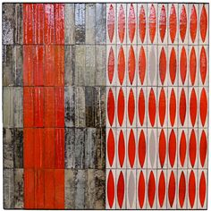 Antique and Vintage Decorative Objects - For Sale at Roger Capron – Art Tiles for Wall Decoration – Vallauris – France – circa 1960 1 Tile Patterns, Textures Patterns, Print Patterns, Geometric Patterns, Tile Art, Beautiful Wall, Wall Wallpaper, Decorative Objects, Ceramic Art