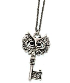 Owl Key Necklace by MidnightHouseElves on Etsy