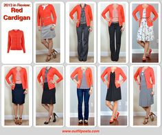 Outfit Posts: 2013 in review - outfit posts: red cardigan