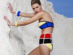 Color Block Swimsuit