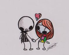 TNBC Jack and Sally by invaderzim91.deviantart.com