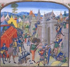 The French lay siege to Duras in 1377. Chronicle of Jean Froissart Bibliothèque Nationale de France, BNF FR 2643?, Fol. ?