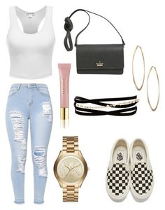 """""""Football Game ❤️💙🏈"""" by bxbygirlkxy on Polyvore featuring Vans, Kate Spade, Michael Kors, Lydell NYC, Kenneth Jay Lane and AERIN"""