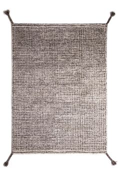 Woodnotes' hand knotted wool carpet col. white-grey