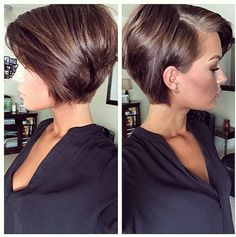Sleek short hairstyle