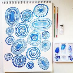 Lisa Congdon drawing - experiments in blue