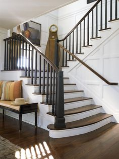 are black stair rails the way to go?