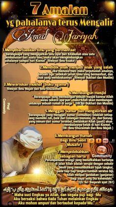 ┏━🌹🌹━━━━━━━━━━━━━━┓ 7 Amalan yg Pahalanya terus Mengalir ┗━━━━━━━━━━━━━🌹🌹━━┛ #BISMILLAH Assalamu'al... - Nona Anna - Google+ Islamic Inspirational Quotes, Islamic Quotes, Religion Quotes, Doa Islam, Learn Islam, Islamic Teachings, Islamic Messages, Hadith, Wallpaper Quotes