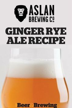 This adventurous beer is based on an American pale ale and inspired by the Moscow Moose cocktail. The ginger and rye are present, but subtle. Brewing Recipes, Homebrew Recipes, Beer Recipes, Coffee Recipes, Rye Ale Recipe, Brewing Supplies, Chilled Beer, Alcohol, Home Brewing Beer