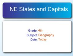 Northeastern Us State Capitals To Label Us States Notebook Pinterest Soek Och Amerikanska Stater