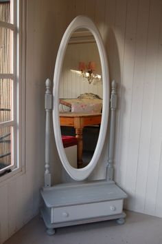Vintage Cheval Mirror Full Length Floor Standing | Cheval mirror ...