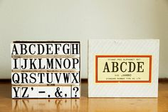 Alphabet Rubber Stamp Set  Vintage by MicroscopeTelescope on Etsy