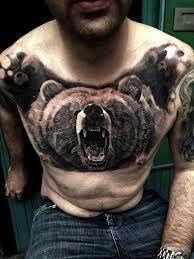 Resultado de imagen para bear tattoo chest