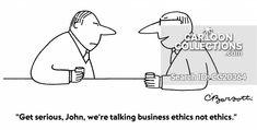 """We're talking business ethics not ethics. Political Cartoons, Funny Cartoons, Business Cartoons, Business Ethics, Print Magazine, Presentation, Politics, Classroom, Social Media"