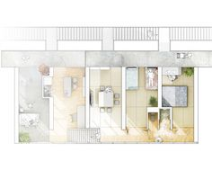 looks like leeway : Photo Gifu, Architecture Drawings, Architecture Plan, Disney Anime Style, Rendered Plans, Ryue Nishizawa, Social Housing, Concept Diagram, High Rise Building