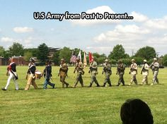 Evolution of the U.S. Army uniform…
