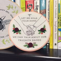 Moose Blood Swim Down Hoop by LittleBambooShop on Etsy Lyric Art, Lyric Quotes, Music Lyrics, Cross Stitch Embroidery, Embroidery Patterns, Moose Blood, Pop Punk, Music Is Life, Hand Stitching
