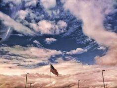 Patriotic clouds #clouds #cachevalleyutah #flag