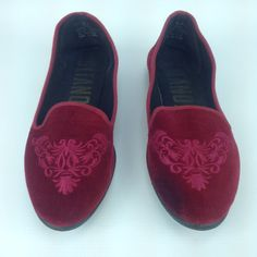 90s Velvet Loafer Shoes  Womens Size 8  8.5 by VILLAGEcollection, $23.00