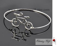 Bracelet  Bicycle charm bracelet bangle by MyShiningGift on Etsy, $5.99