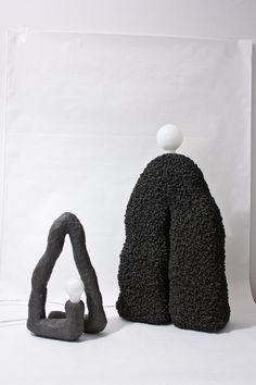 For Sale on - Lamp 'Luminous Shapes no by Stine Mikkelsen Dimensions: 70 x 40 x 16 cm Materials: Composite, volcanic ash, marble and granite Luminous shapes is an London Design Festival, Vase, Textile Design, Textile Art, Oeuvre D'art, Clay Art, Contemporary Design, Design Inspiration, Pottery