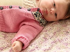...Fair Isle Cardigan by Debbie Bliss, as knit by Alicia Paulson...so very happy for her & her family...
