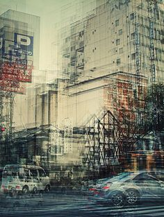 German photographer Stephanie Jung did a series of photos in multiple exposure of different cities in Japan. A few photos of the same place but in different tim Experimental Photography, Urban Photography, Abstract Photography, Artistic Photography, Fine Art Photography, Street Photography, Landscape Photography, Photography Ideas, Motion Photography