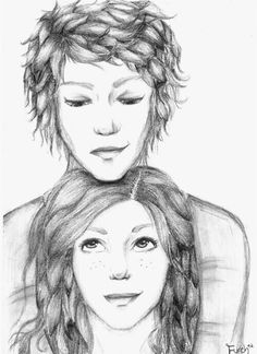 Jace and Clary - Shadowhunters the mortal instruments - fan art<-----very good fan art