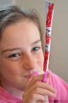 Ever shoot your straw paper across the restaurant table? Or is that just my family?  Well, make some creative straw paper rockets with Picklebums free printable!