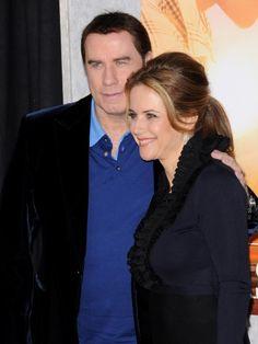 John Travolta and Kelly Preston at the Wizarding World of Harry Potter