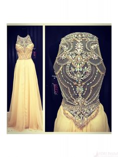 New Design Sexy Charming A-Line Beaded Floor Long Chiffon Prom Party Evening Dresses(ED0560)