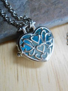 Sea Glass Jewelry  Beach Glass Locket Necklace  by SeaFindDesigns, $18.00