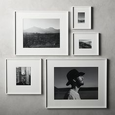 picture wall ideas Shop Gallery White Frames with White Mats. Exhibit your favorite photos and images gallery-style. White mat floats one photo within a sleek picture frame of bri 11x14 Picture Frame, Unique Picture Frames, Picture Frame Crafts, Photo Frame Ideas, White Picture Frames, 16x20 Frame, Picture Frame Layout, Picture Frame Display, Photo Frame Design