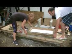 Making a concrete seat, part 1: making the form - YouTube