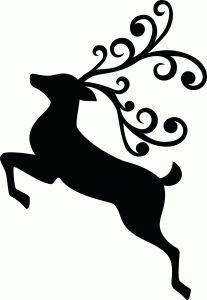 Jumping reindeer outline reindeer silhouette silhouette online store