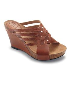 Take a look at this Brown Ajede Wedge by Scholl on #zulily today!
