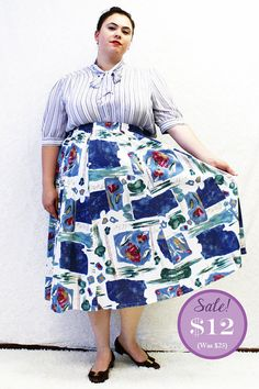 CLEARANCE  Plus Size  Vintage Abstract Print Knit by TheCurvyElle, $12.00