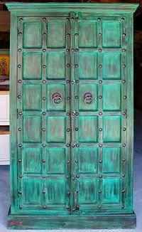 Meubles indiens on pinterest glazing furniture bon - Repeindre vieille armoire ...