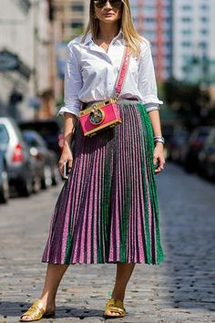 The 5 Best Tops to Wear with Midi Skirts  via @PureWow